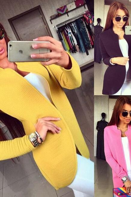 NEW Cute Women Autumn Long Line Sleeve Cardigan Warm Overcoat Blazer Jacket Coat