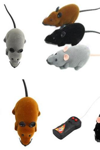 *Free Shipping* Hot Funny Remote Control RC Wireless Rat Mice Mouse Toy For Novelty Cat Dog Brown Black Grey 3 Colors