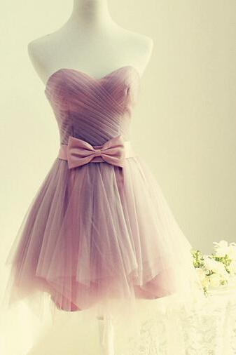 Cute Short Tulle Sweetheart Prom Dresses, Short Prom Dresses ,Homecoming Dresses, Graduation Dresses