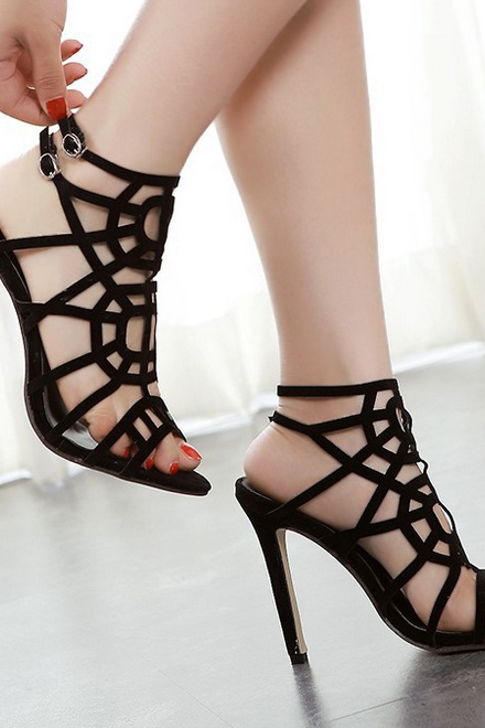 Sexy hollow out sandals high heels 3223377