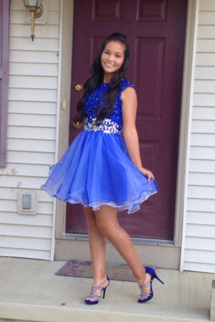 Royal Blue Beading Homecoming Dresses, O-Neck Graduation Dresses, Homecoming Dresses, Short/Mini Homecoming Dress