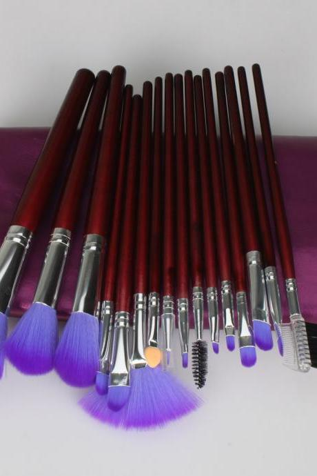 16Pcs Professional Cosmetic Makeup Brushes Set Kit With Purple Bag MZO7L9H05V2HV4U69I04S 6H0IK4NPH68