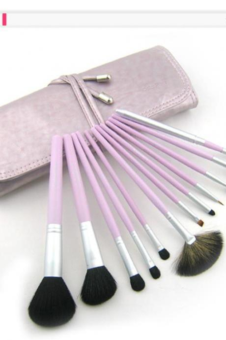 High Quality Goat Hair Wool Purple 12Pcs Professional Beauty Makeup Brush Set With Bag UVDSEBTK5E6MXMMTEY0F6 JMZ3U7JDCAK