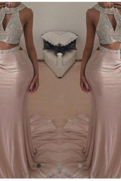 Custom Made Prom dress, Long Prom Dresses ,Evening Dresses, Long Party Dresses, Sexy Party dress, prom dress,Beading dress