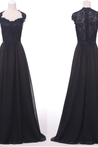 2015 Elegant Women Lace Black Formal Sleeveless Evening Dress
