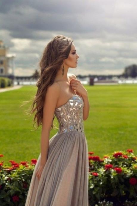 Custom Made A Line Sweetheart Neck Floor Length Prom Dresses, Dresses For Prom, Prom Party Dresses, Evening Dresses