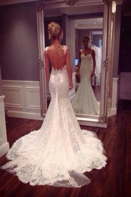 Sexy Custom Made Sweetheart Backless Lace Wedding Dresses Dresses For Wedding Dresses Wedding Gowns Mermaid Wedding Dress Weddings And Events