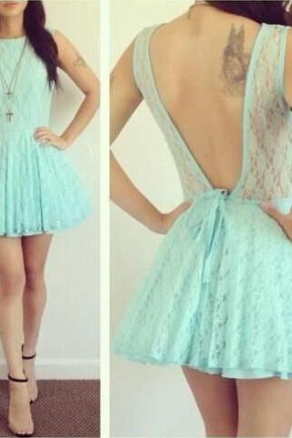 Charming Homecoming Dress,Lace Homecoming Dress,Backless Homecoming Dress, Short Cute Homecoming Dress, Custom Homecoming Dresses