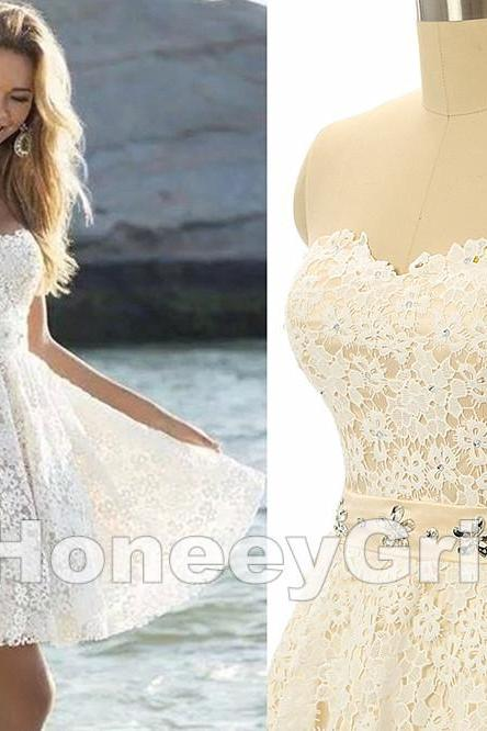 HG311 Graduation Dress,High Quality Graduation Dress,Lace Graduation Dress,Pretty Graduation Dress,Short Graduation Dress,Sweetheart Graduation Dress,Beaded Graduation Dress,Ball Gown Graduation Dress