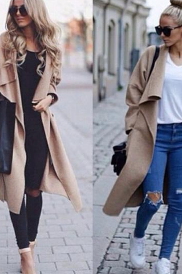 FASHION LONG-SLEEVED LOOSE COAT 1508462
