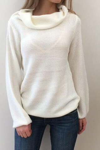 FASHION ROUND NECK LONG SLEEVE SWEATER 9301548