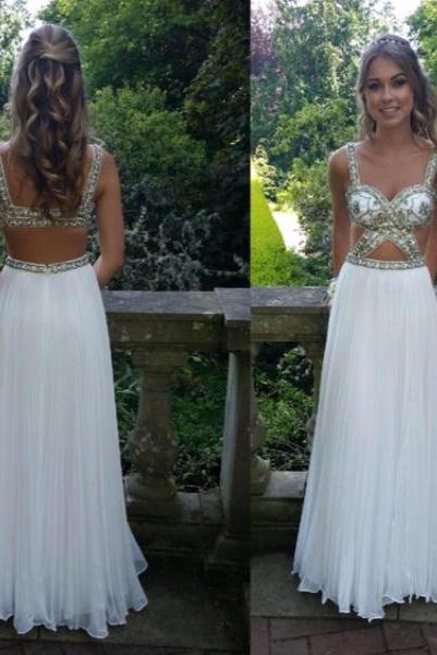 2016 Luxury Eveing Dresses, SEXY Chiffon A-Line Prom Dress, Long A-Line DRESSES, Evening PARTY DRESSES