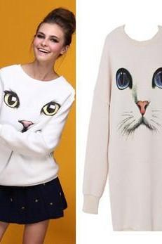 CUTE LITTLE ANIMAL PRINTING SWEATER AA827IA