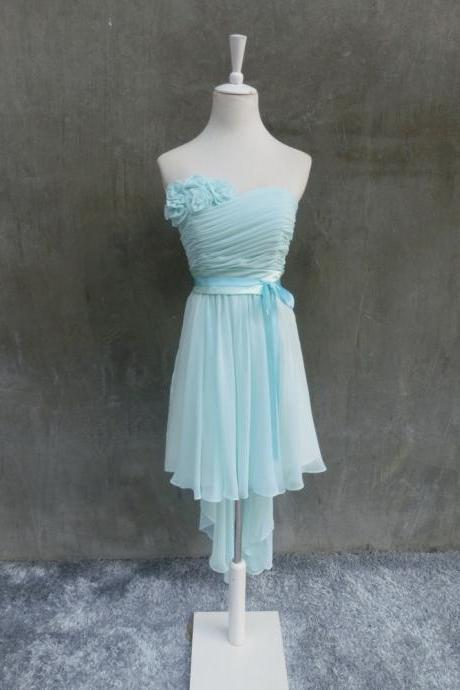 Cute Simple Mint Blue High Low Prom Dresses, High Low Formal Dresses, Homecoming Dresses, Sweet 16 Dresses