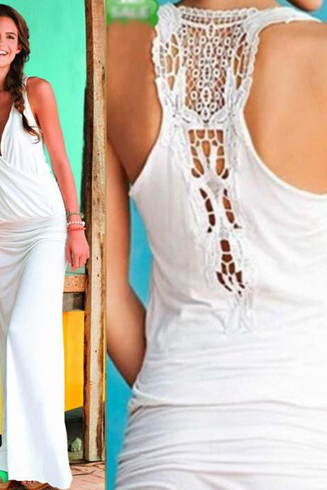 WHITE SEASIDE TIGHT DRESS QW912EA