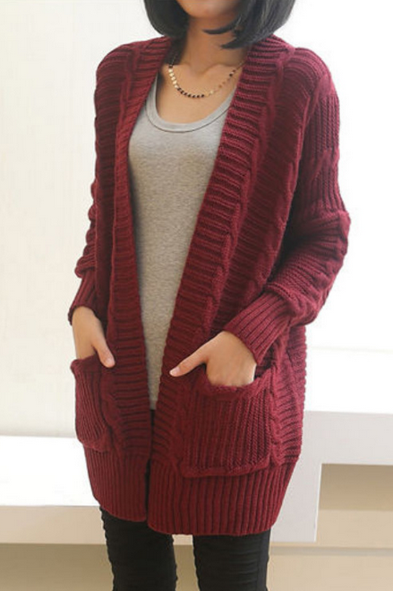Retro loose long-sleeved cardigan sweater coat WE91807PO