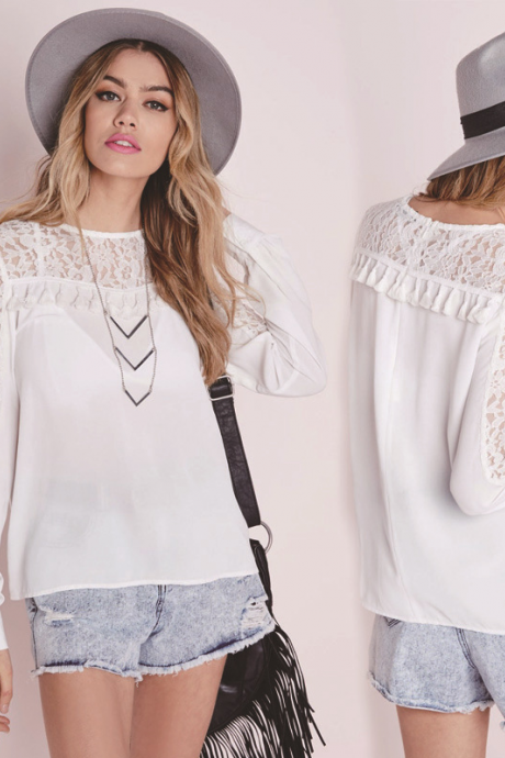 Leisure lace tassels Blouse 5800853