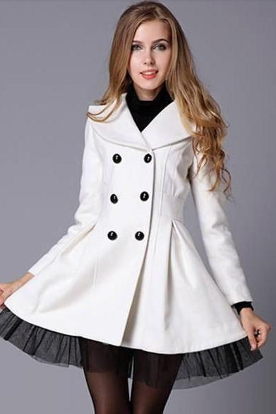 DOUBLE-BREASTED WOOL COAT BV1015CJ