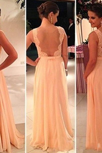 2016 Champagne Custom Beautiful Evening Dress, Halter Dress ,Prom Dresses,Bridesmaid Dresses