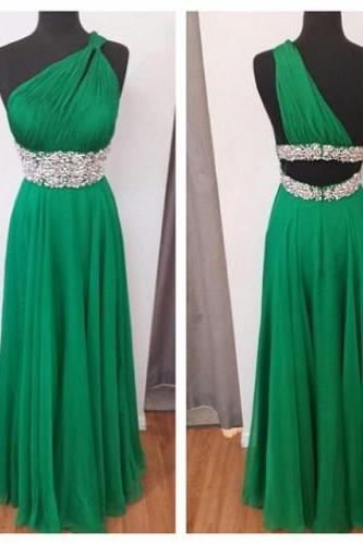 Bridesmid Sexy One Shoulder Dresses, Prom Dresses ,2016 Homecoming Floor-Length Dresses ,Chiffon Halter Party Dresses ,Formal Evening Dress