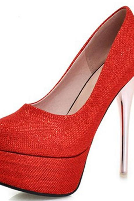 Red High Heels Fashion Shoes