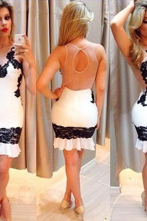 LACE WHITE TIGHT DRESS JJ1022DA