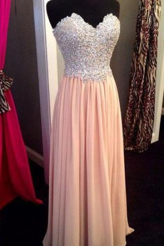 Strapless Prom Dress ,Sexy Long prom dress, Sleeveless Prom Dress ,high quality prom dress,beautiful beading prom dress,Sweatheart Neck Prom Dress ,Beading Prom Dress, Custom prom dress L285