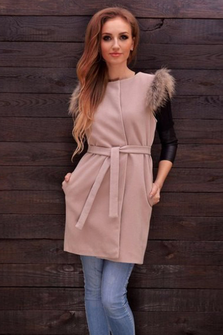 Fashion sexy Sleeveless woolen coat 8310842