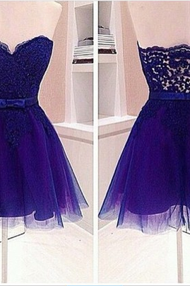 Real Made Sweatheart Neck Homecoming Dress, Beautiful Lace Dress On Sale