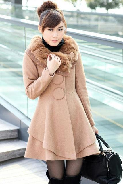 Elegant Light Tan Fashion Coat M69ONDG7U5ON1U8V3YE98 ZK503TAMNZ5