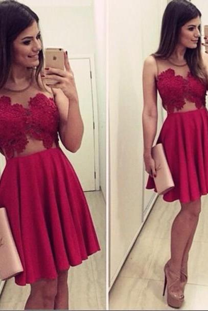 Ulass New Arrival Sexy Homecoming Dresses,O-Neck Graduation Dresses,Homecoming Dress,Short/Mini Tulle Homecoming Dress