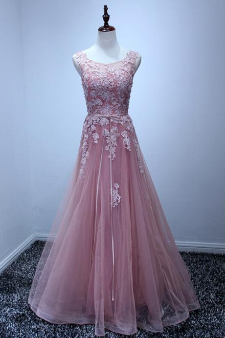 Pd0934 High Quality Prom Dress,Tulle Prom Dress,A-Line Prom Dress,Appliques Prom Dress