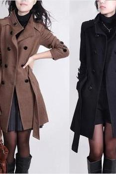FASHION LEISURE WOOL COAT QZ1027DH