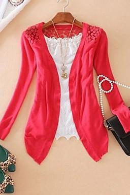 Women's Candy Color Knitted Cardigan for 2015 autumn and winter