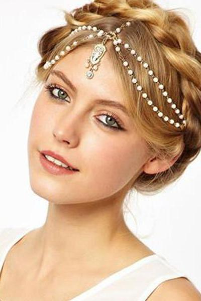 FASHION BEADED HAIR ACCESSORY QZ1027EJ