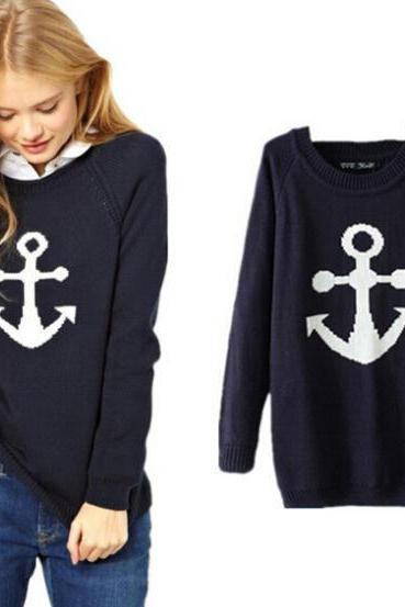 ANCHORS FASHION PURE COLOR SWEATER BB1028BJ