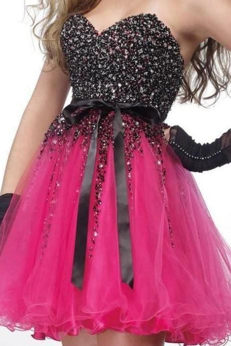 Charming Homecaming Dress,Sweetheart Homecaming Dress, Sequined Homcaming Dress,Chiffon Homecaming Dress,Short Prom Dress, Bedazzleing short Dress, Cute Prom Dresses, Country Prom Dress