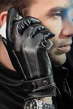 Men's Winter Faux Leather Gloves for 2015 winter