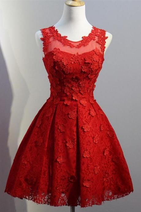 Red Homecoming Dress,Short Homecoming Dress