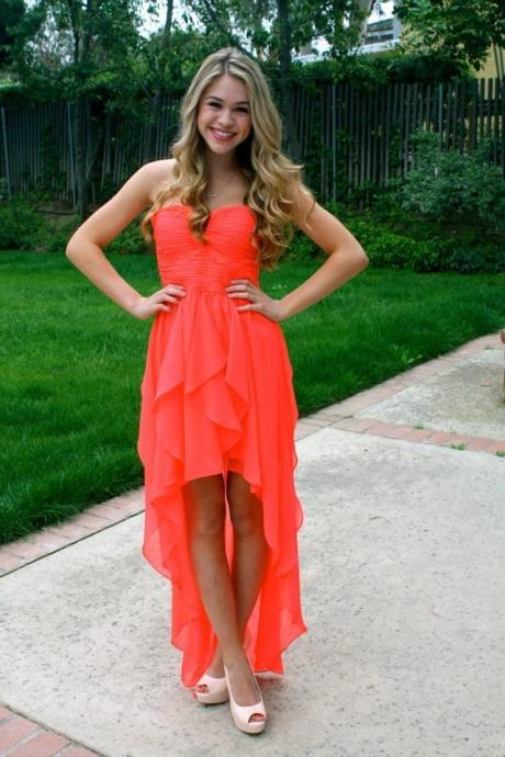 Homecoming Dress, Sweetheart Homecoming Dress,High Low Homecoming Dress