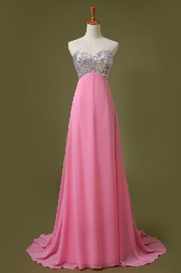 Handmade Simple And Pretty Sparkle Prom Dresses, Prom Dresses2015, Evening Dresses, Formal Dresses