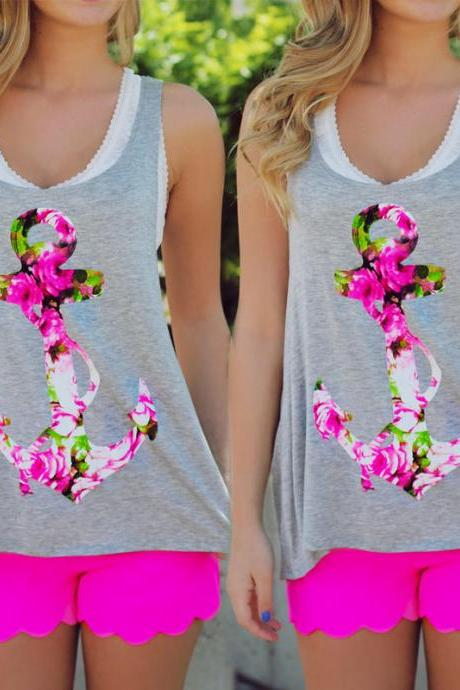 New Women Fashion Summer Vest Tops Sleeveless Blouse Casual Tank Tops T-Shirt
