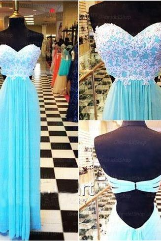 blue Prom Dresses Lace Prom Dress Chiffon Prom Dresses Long Prom Dresse 2015 Prom Dresses Sexy Prom Dresses Dresses For Prom