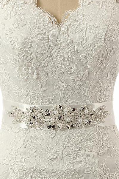 HG362 Handmade Wedding Sash,Belt For Wedding Dress,Beaded Belt,Crystal Bridal Sashes,Bridal Accessories