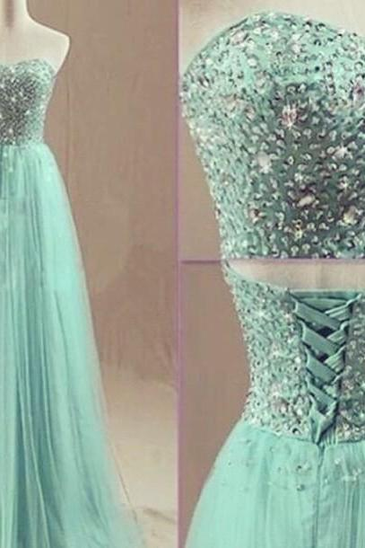 Custom Made 2017 Sweet Long Prom Dresses Women Evening Dresses Long Party Dresses Green Sheer Dress