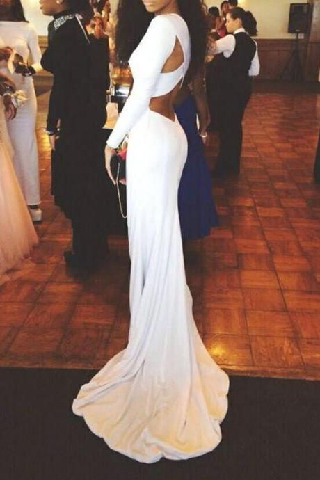 Pretty White Satin Cross Back Long Prom Dresses 2016 White Prom Gown Prom Dresses Evening Gowns