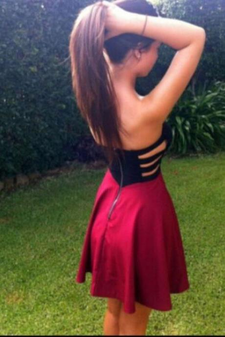 FASHION STRAPLESS CUTE HOT DRESS
