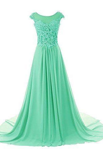 Emerald Green Prom Dresses,Princess Prom Dress,Sexy Prom Gown,Long Prom Gown,Elegant Evening Dress,Chiffon Evening Gowns