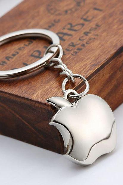 Apple Key Chain Silver Plated Key Chains