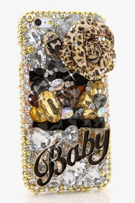 Bling Crystals Phone Case for iPhone 6 / 6s, iPhone 6 / 6s PLUS, iPhone 4, 5, 5S, 5C, Samsung Note 2, Note 3, Note 4, Galaxy S3, S4, S5, S6, S6 Edge, HTC ONE M9 (THE BABY DESIGN) By LuxAddiction